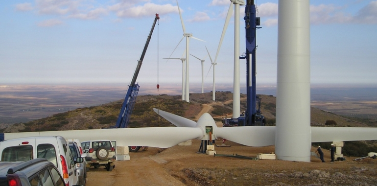 Assembly of a wind farm.